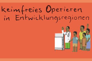 rucksackspende - medizinischer Rucksack für keimfreies Operieren