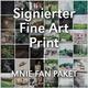 Signierter Fine Art Print 60x40cm + Buch mit Widmung