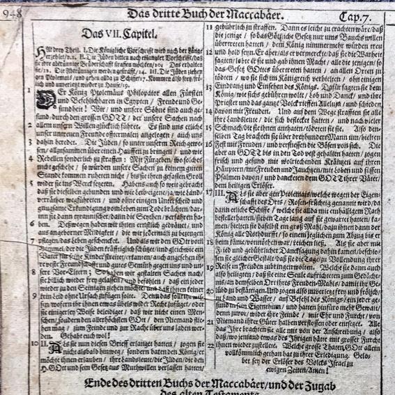 alte Bibelseite