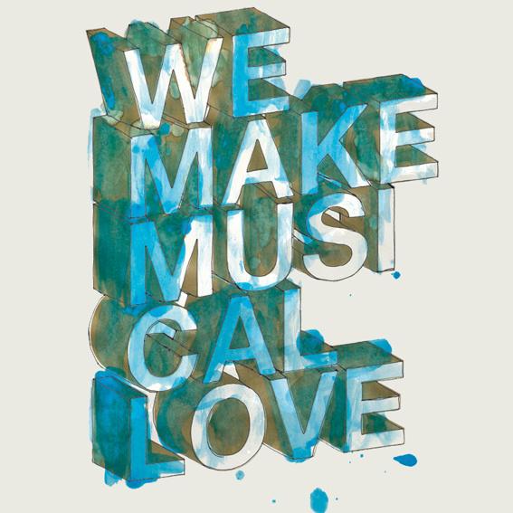 "1 Plakatsonderdruck ""We Make Musical Love"" CBE-Art-Edition"