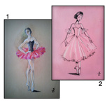 Postkarte mit Ballerina Motiv
