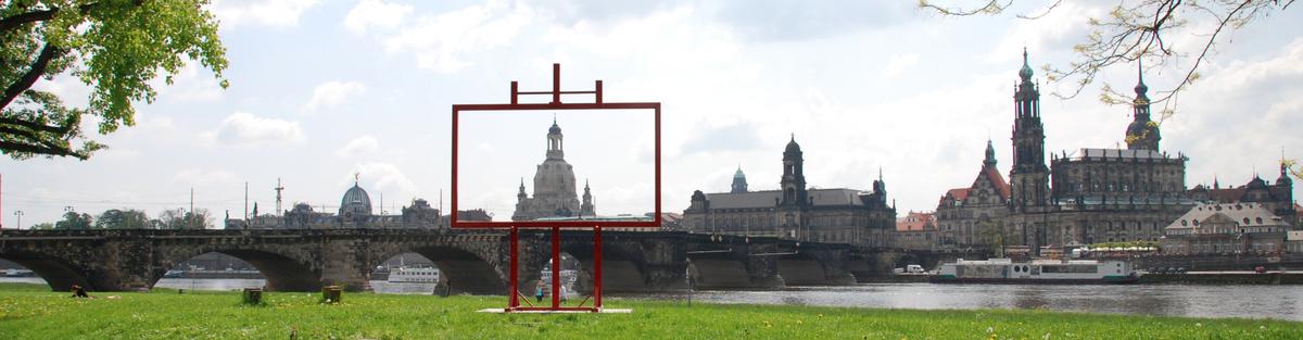 Installation Canaletto - Blick auf Dresden