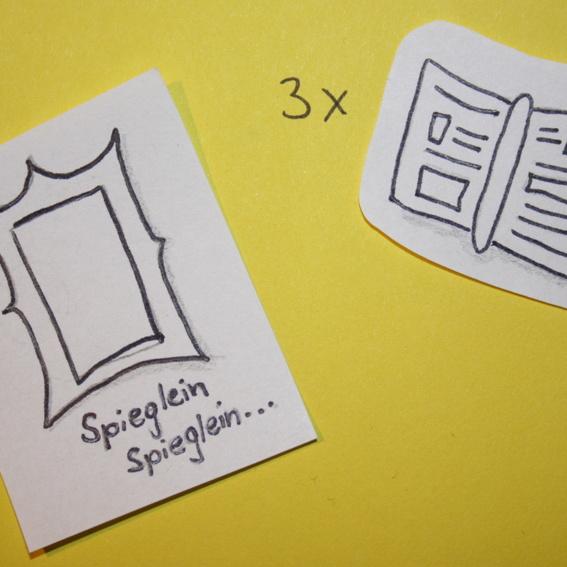 gestalteter Handspiegel zur Selbsterkundung + 3 Handbücher