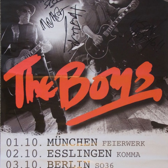 The Boys - Tourplakat 2013 - signiert