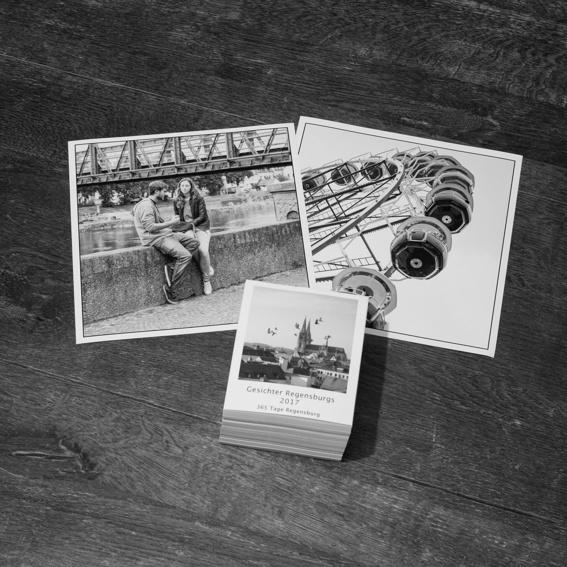 Ein kalender und zwei Fotos aus meiner Auswahl an Lieblingsfotos