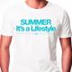 Summer is a Lifestyle Weiß