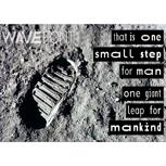 """4 Postkarten """"Small Step"""" (mit Motiv und WaveFont-Aufschrift)"""