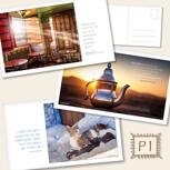 Postkarten XL - Set P1: Drei liebevoll gestaltete Postkarten mit Zitaten & Bildern aus dem Buch