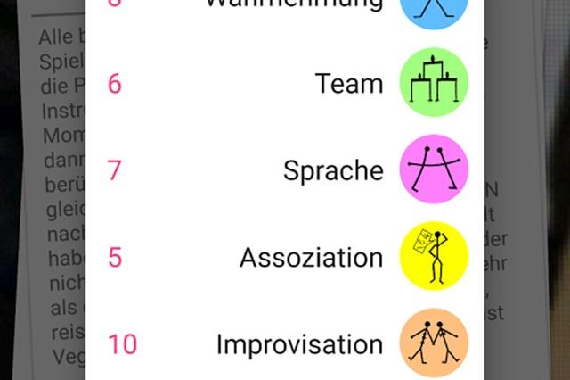 Theaterpädagogische Spielesammlung als App für IOS Betriebssystem