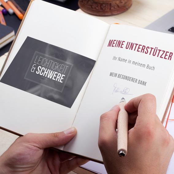 Erwähnung als Unterstützer/in im Buch + 1 Buchexemplar + Dankeskarte