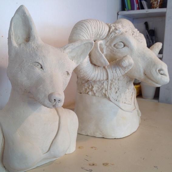 Skulptur: Bewohner der urbanen Wildnis