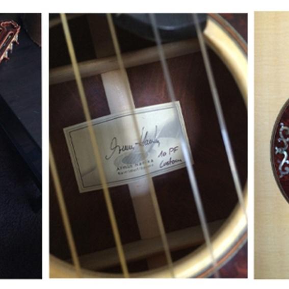 """Reinhard Mey - hochwertige Hanika-Gitarre, von Mey gespielt auf der """"dann mach's gut""""-Tournee 2014"""