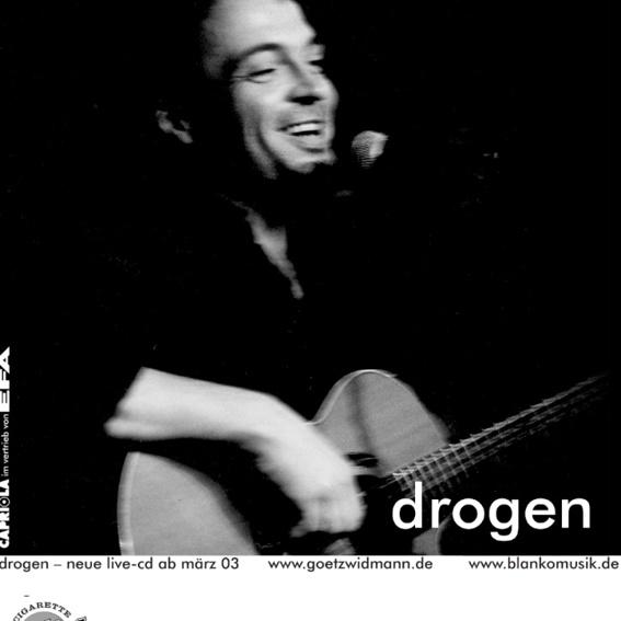 """Handsigniertes Original Plakat A2 GÖTZ WIDMANN """"Drogen"""""""