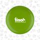 Frisbee mit Tinoh-Logo