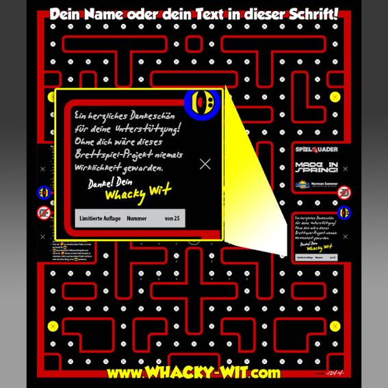 #8: Komplettes Whacky Wit-Spielbrett LIMITED EDITION + Maxi-Danke