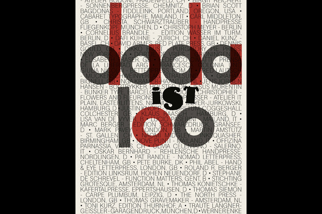 Ausstellung DADA IST 100