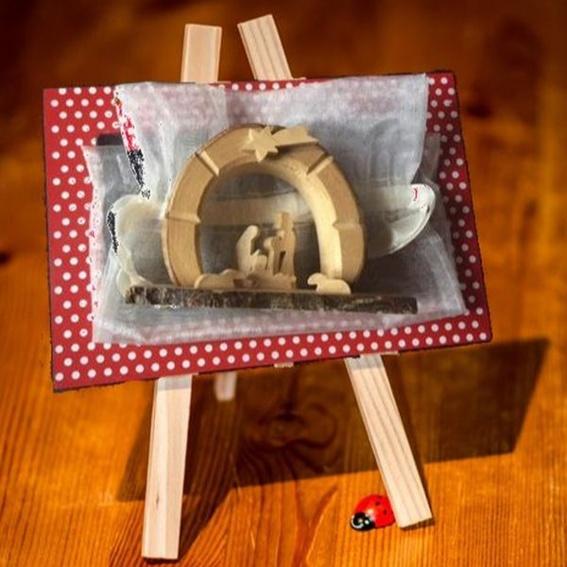 OsterEi: Krippe für Weihnachten