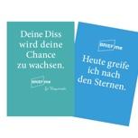 BriefMe-Postkarte mit persönlichem Gruß und Tipp zur Promotion oder allgemeinen Produktivität