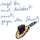 Lebenslinien - handgeschriebener Zweizeiler von Herrta Pete (Bernward Kühnapfel)