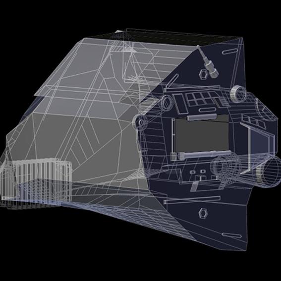 Raumschiffmodell