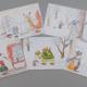 5 Weihnachtspostkarten mit exklusiven Motiven