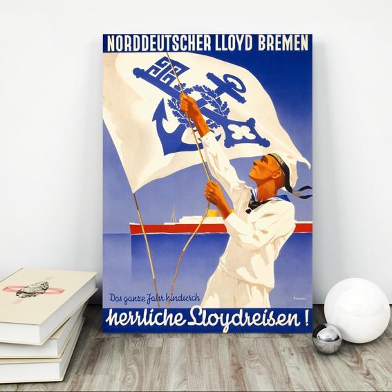 """Kunstdruck """"Norddeutscher Lloyd"""" MATROSE"""