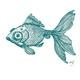 Exquisiter Fisch-Siebdruck