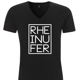 RHEINUFER V-Neck Shirt Schwarz