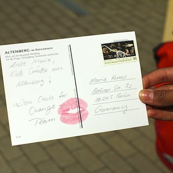 Postkarte, oder Souvenir von der Tour +