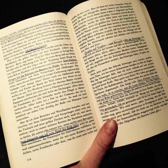 """Buch """"Die Wellen"""" mit Regienotizen"""