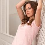 glückskind – women shirt rosa meliert