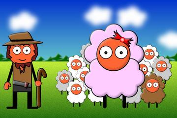 BibelCartoon : Das verlorene Schaf