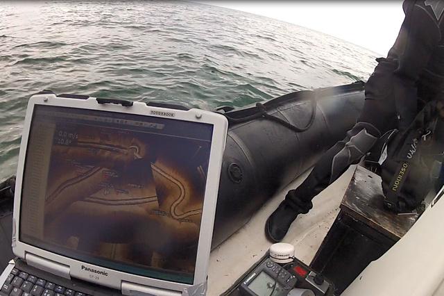Erstbetauchung eines Schiffswrack vor Korsika