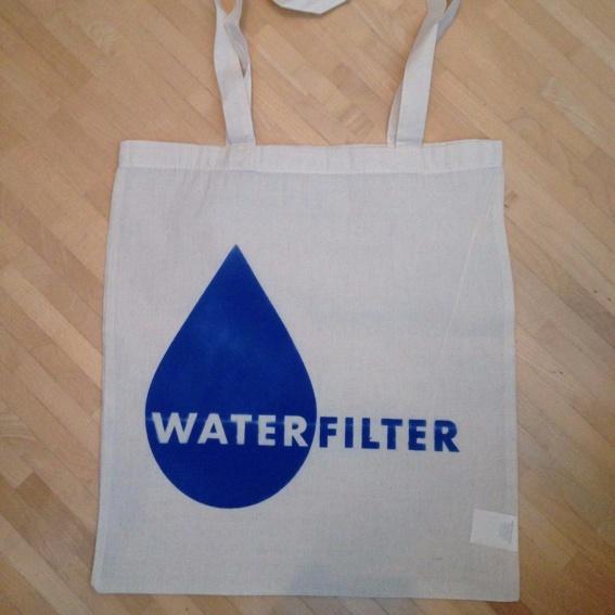 Wasserfilter Jutebeutel