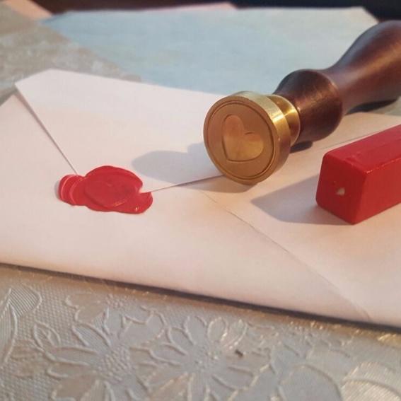 Siegelwachs mit Siegel & 10 DIY Briefumschläge