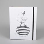 """Fishing for ideas"" (black/ white carton) – Swiss Brochure"