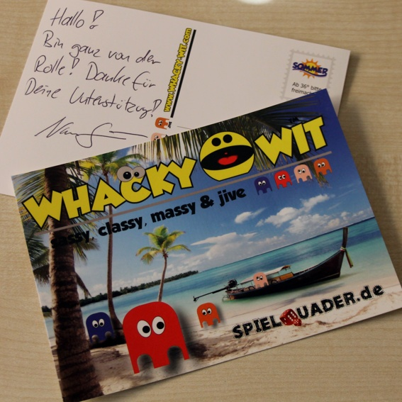 Postcard from Whacky