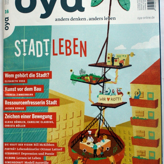 Oya Magazin 'STADT LEBEN' und Namensnennung