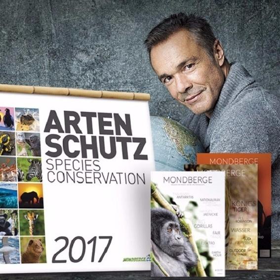 Abendessen mit Hannes Jaenicke, signierter Artenschutzkalender, Jahresabo Mondberge-Magazin