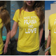 """Made with Prana and Love"" T-Shirt gelb"