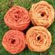 Wolle XL oder XXL gefärbt: rot + orange