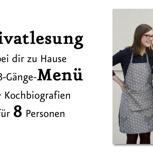 8 Bücher + kulinarische Privatlesung bei dir zu Hause