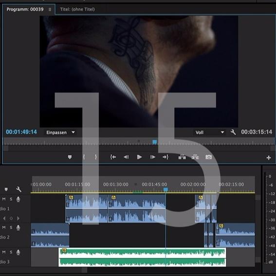 Filmvertonung bis 15 Minuten