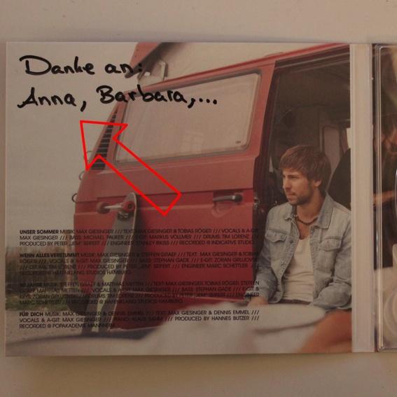 Dein Name im Album-Booklet