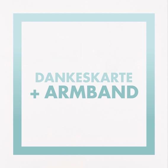 Dankeskarte + Armband