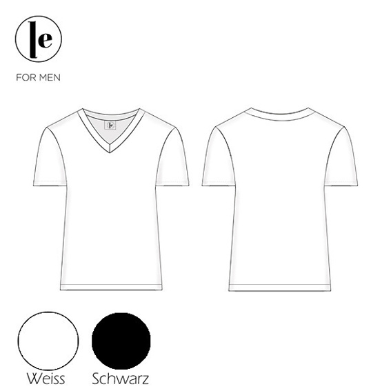 Doppelpack Basic T-Shirt weiß oder schwarz