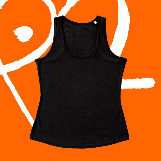 1x Tank-Top tailliert schwarz