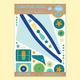 "Brand new: BADALA sticker set ""Airplane"""