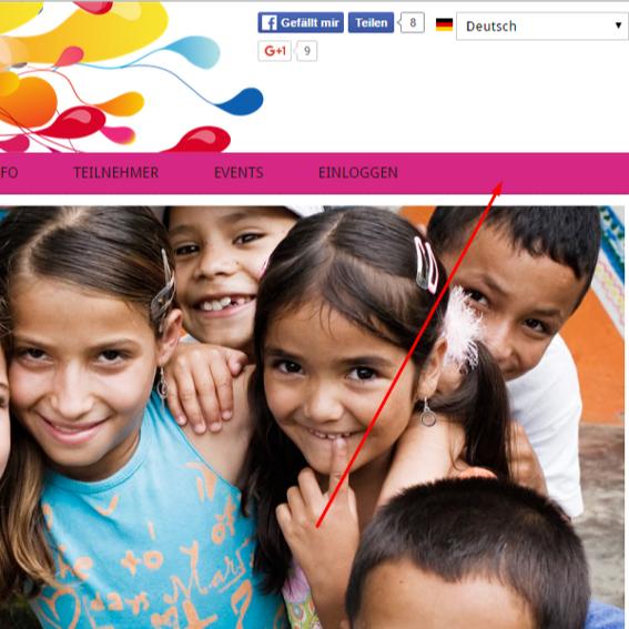 Benennung auf der Webseite