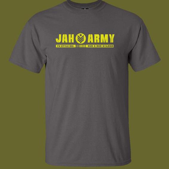 Jah Army T-Shirt und Sticker